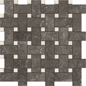 White and Anthracite Rooted porcelain tile in basketweave pattern from Atlas Concorde USA- sample