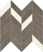 Cove Storm chalk-look porcelain tile in dart pattern from Atlas Concorde USA - sample